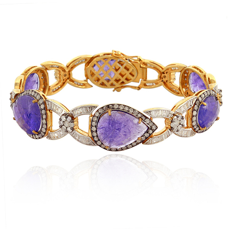 18k Gold Tanzanite Diamond Bracelet | Gemstone Jewelry | GemcoDesigns | Pave Diamond Bracelets | Diamond Jewelry | GemcoDesigns | Scoop.it