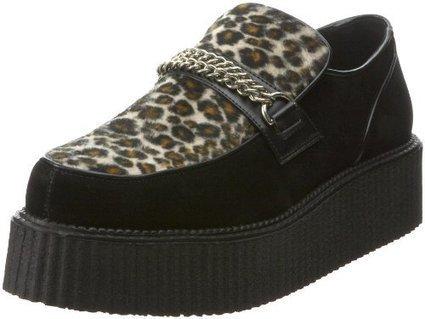 !@#  V-CREEPER Pleaser Mens V Creeper 509S Slip-On,Black Suede/Cheetah Fur,12 M US Pleaser Black Suede/Cheetah Fur   Mens Slip-on Shoes   Scoop.it