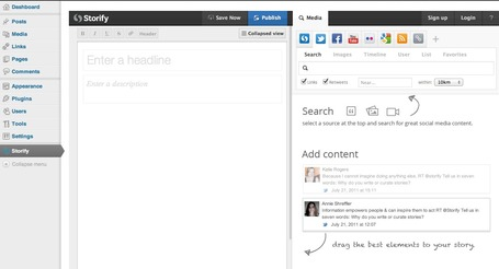 Curate Content and News Directly From Within Wordpress: The Storify WP Plugin | Curaduria de contenidos - Content curation | Scoop.it