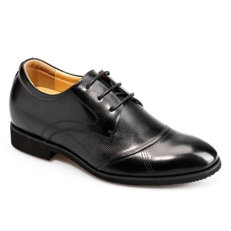 Chamaripa Add Height 7.5CM/2.95Inch Black Genuine Leather Taller Shoes is the most comfortable dress shoes,100% Quality,100% Comfortable. | best elevator shoes for men to be taller and elegant | Scoop.it