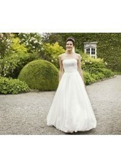 A Line Strapless Court Train Organza Ivory Wedding Dress H1ly0020 for $990 | Landybridal 2014 wedding dress | Scoop.it