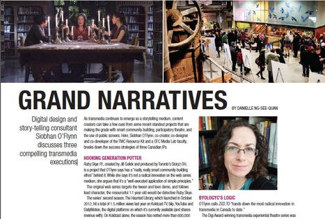 Grand Narratives: Canada's Cutting Edge Transmedia Projects. Interview in Playback's Spring Transmedia Issue | Tracking Transmedia | Scoop.it