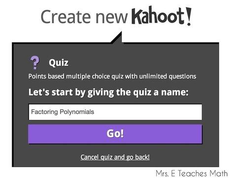Mrs. E Teaches Math: How To Create a Kahoot!   Apps   Scoop.it