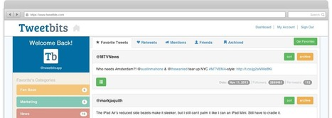 Categorize and track your Twitter favorites with Tweetbits. | Time to Learn | Scoop.it