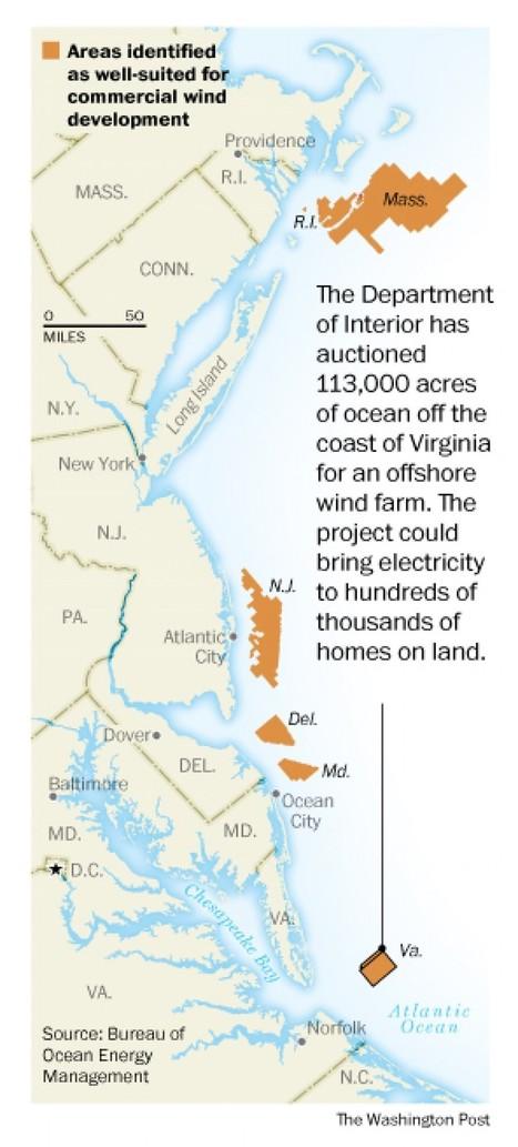 Dominion Virginia wins right to lease ocean tract for wind farm - Washington Post   Aesir Shark   Scoop.it