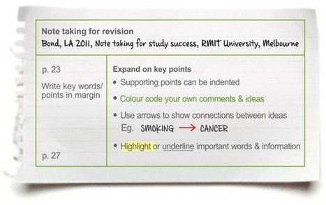 Note taking (tutorial) | Learning Lab | Academic Skills in Higher Education | Scoop.it