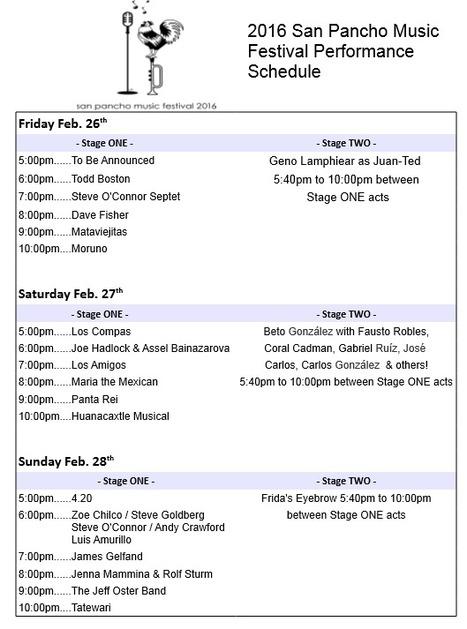 2016 San Pancho Music Festival Performance Schedule | Puerto Vallarta | Scoop.it