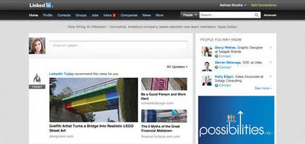 Une nouvelle page d'accueil pour Linkedin | web@home    web-academy | Scoop.it