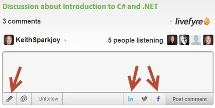 New feature: Course discussions via LiveFyre | Livefyre on the Web | Scoop.it