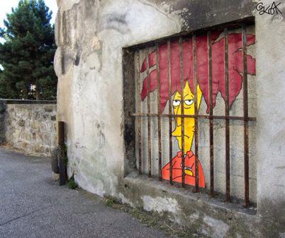 Oakoak : Un artiste urbain qui s'amuse avec nos personnages préférés en street art !   World of Street & Outdoor Arts   Scoop.it