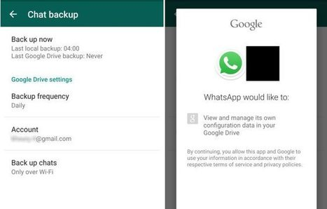 Nuevo whatsapp android permite backup en Google Drive | Recull diari | Scoop.it