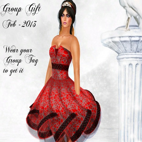 Red Dress February Group Gift by Glitterati by Sapphire | Teleport Hub | My SL Freebie Fashions | Scoop.it