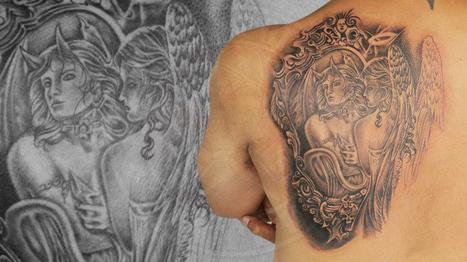Realism Angel Devil Tattoo   Black Poison Tattoos   Scoop.it