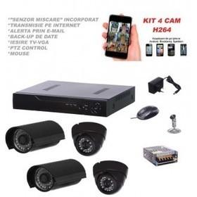 Kit sistem supraveghere AKU 4 camere interior/exterior 700TVL/DVR 4 canale la preturi ieftine | Camere supraveghere Video Protect | Scoop.it