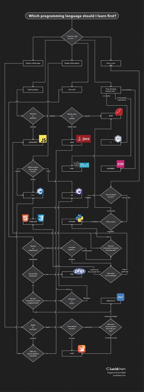 Which Programming Language Should I Learn First? - Lucidchart | Bazaar | Scoop.it