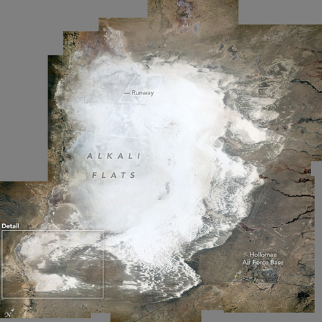 NASA: It's not snow: pictures ofthe world's largest gypsum dune field | Amazing Science | Scoop.it