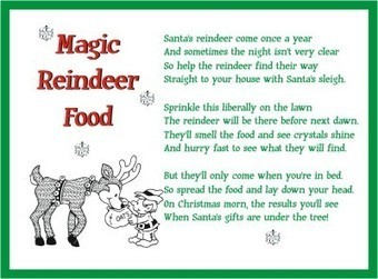 Printable Reindeer Food Poem | Christmas Letter...