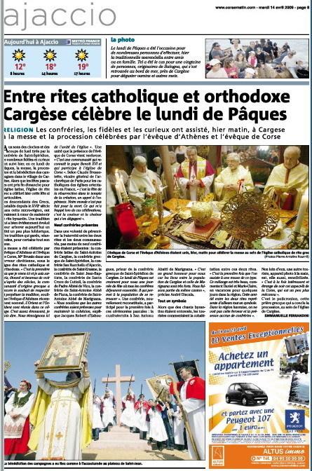 Pâques à Cargèse | Revue de Presse de Cargèse | Scoop.it