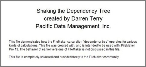 Shaking the Dependency Tree | Filemaker Info | Scoop.it