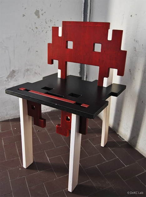 Interlocking Space Invaders Chair: Aliens, Assemble! | misc-funny | Scoop.it