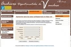 Les archives du Vaucluse sont en ligne ! - La Revue française de Généalogie   Chroniques d'antan et d'ailleurs   Scoop.it