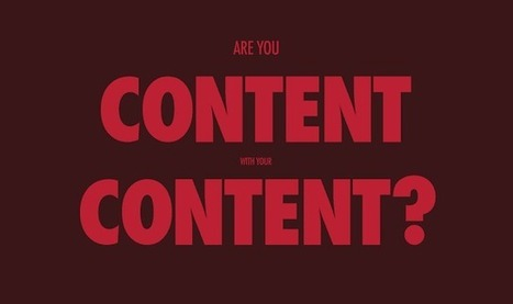 Are You Content With Your Content? #infographic | Content Marketing & Content Strategy | Scoop.it