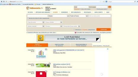 Leboncoin.fr, deuxième site d'offres d'emploi | Orientation insertion professionnelle entrepreneuriat | Scoop.it