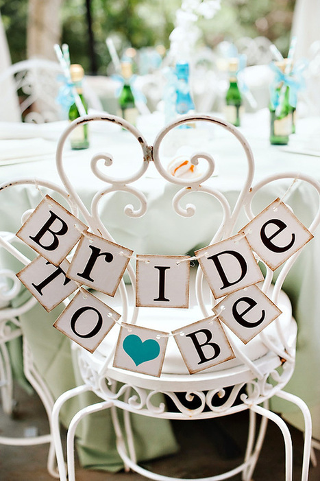 {Sweet & Chic} Teal Bridal Shower Luncheon // Hostess with the ... | Beyond Chicken Salad | Scoop.it