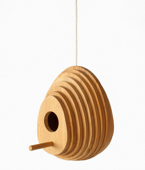 Tree ring birdhouse by Jarrod Lim for Hinika | D_sign | Scoop.it