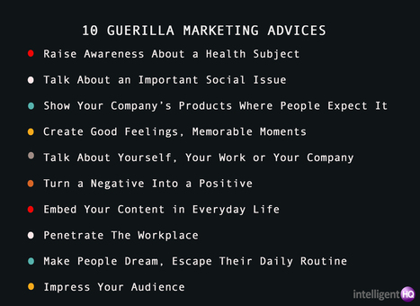 Guerilla Marketing Examples That Will Make You Famous | IntelligentHQ | Scoop.it