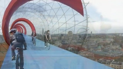 SkyCycle aerial cycle lanes in London take a step closer to reality as architects propose test sites to Network Rail   road.cc   Road cycling news, Bike reviews, Commuting, Leisure riding, Sportive...   highline   Scoop.it