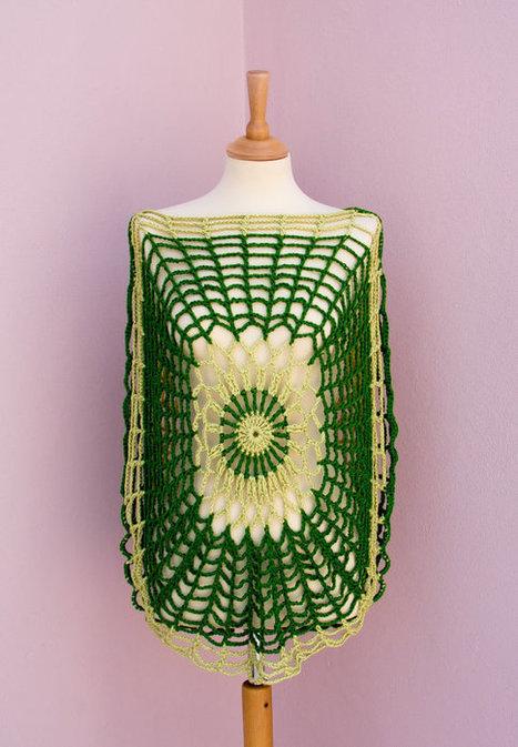 SALE Sexy Crochet Tunic Trendy  Green Lime  flower power | AinurDesign | Scoop.it