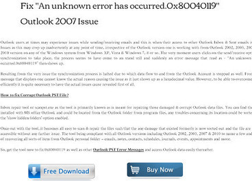How to fix Outlook PST Error Messages? | How to Repair Corrupt Outlook 2007 PST Files? | Scoop.it