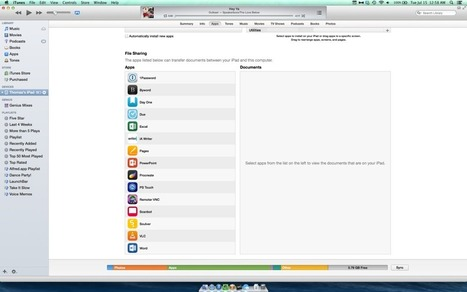 Quick Tip: Use iTunes to Transfer Files to Compatible Apps On Your iPad   iPad Insight   M-Learn in Education   Scoop.it