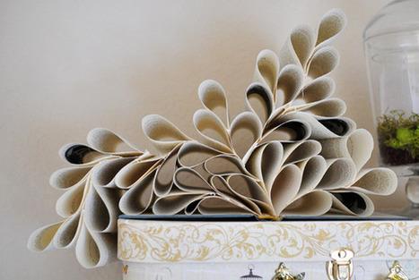 Décoration originale avec un vieux livre | Décoration & Bricolage | Scoop.it