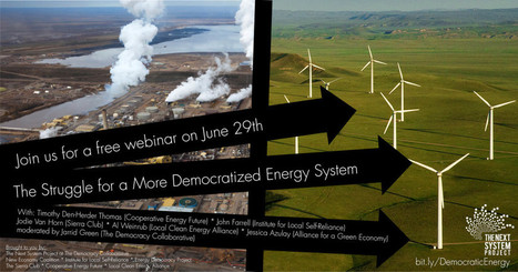 Webinar: The Struggle for a More Democratized Energy System | Thinking about Systems | Scoop.it
