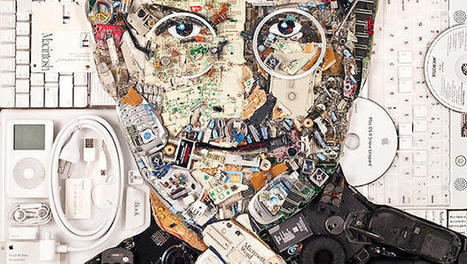 See a Steve Jobs Portrait Made Entirely From Computer Guts | réflexion | Scoop.it