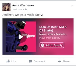 Music Stories: Facebook introduces new post format with streaming integration | E-Music ! | Scoop.it