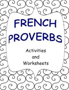 French Proverbs - Activities and Worksheets (Proverbes français) | French Resources to Download and Print | Scoop.it