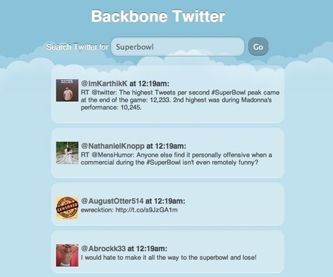 Backbone.js tutorial - create a simple Twitter search client | backbone js advanced | Scoop.it