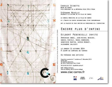 Gilbert Pedinielli Invite au CIAC  - expo château de Carros jusqu'au 31 dec  2014 | Circulations - #Tissages | Scoop.it
