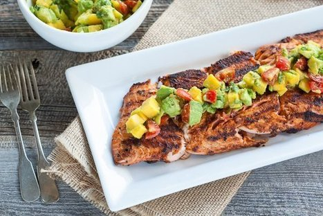 Blackened Salmon with Mango-Avocado Salsa - Against All Grain | Truly Healthy Recipes | Scoop.it