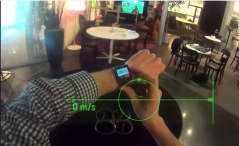 Contrôle d'un drone avec SmartEyeglass et SmartWatch 2 en vidéo - Android-France | Drôles de drones | Scoop.it