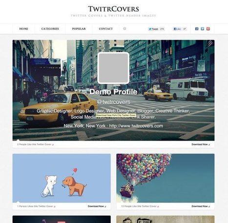 TwitrCovers : le plein de couvertures pour ton Twitter | Outils, logiciels et tutos : de la curiosité à l'indispensable | Scoop.it