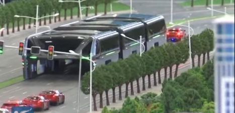 En Chine, un bus pour enjamber les embouteillages | Planete DDurable | Scoop.it