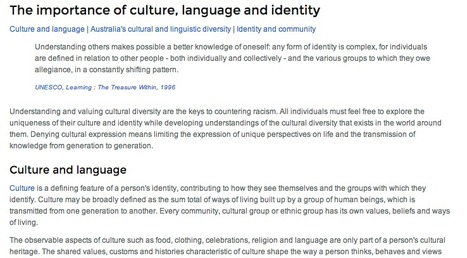 The importance of language, culture and identity | Langauges in the community | Scoop.it