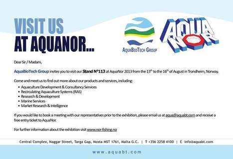 AquaBioTech Group in AquaNor in Trondheim, Norway | Recirculating Aquaculture System | Scoop.it
