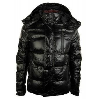 Mens Warm Puffer Coat Jacket Hood Shiny Black Mid Length Casual Winter Zipped | Mens clothing | Scoop.it