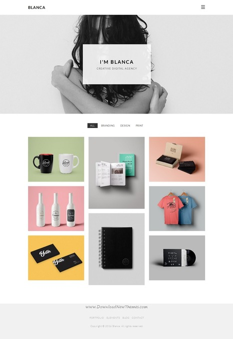 Blanca Clean and Minimal Portfolio WordPress Theme Download | Creative Themes and Template Download | Scoop.it