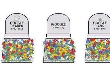 Cimetière Google: une fleur à déposer? | Geeks | Scoop.it